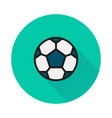 soccer ball icon on round background vector image vector image