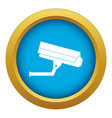 surveillance camera icon blue isolated vector image vector image