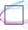 wave many colored lines over square frame vector image