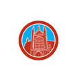 Winchester Cathedral Woodcut Retro vector image vector image