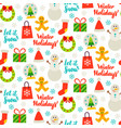 winter holiday seamless pattern vector image vector image