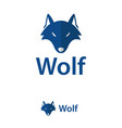 wolf abstract design template logo iconic symbols vector image