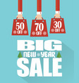 big new year sale modern flat design vector image
