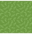 Seamless pattern with light green leaves vector image
