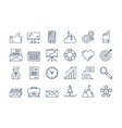01 outline business icons set vector image