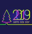 2019 happy new year colorful inscription lettering vector image