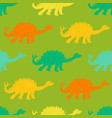 a seamless repeating pattern of dinosaur vector image vector image