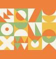 abstract geometric banner retro bauhaus patterns vector image vector image