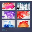abstract hand drawn set of six watercolor vector image