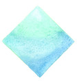 abstract light blue square watercolor banner vector image vector image