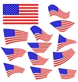 American Flags Icons vector image vector image