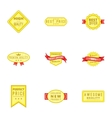 Badge icons set cartoon style vector image vector image