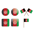 Badges with flag of Afghanistan