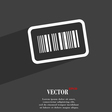 Barcode icon symbol Flat modern web design with vector image