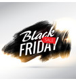 black friday sale poster design with brush paint vector image vector image