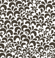 brown floral vintage seamless pattern on white vector image