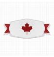 Canada Flag symbol realistic Label vector image