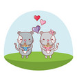 cats and food kawaii cartoons vector image