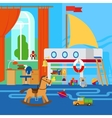 children room with toys vector image
