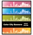 City banner vector image vector image