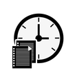 clock time icon design vector image vector image
