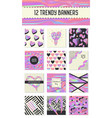 creative holographic posters set geometric shapes vector image vector image