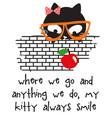 cute cat1 vector image vector image