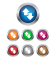 Data transfer buttons vector image vector image