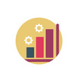 digital marketing statistics chart report settings vector image vector image