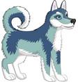 dog husky vector image vector image