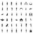Egyptian gods silhouette set vector image