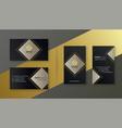 elegant black business card template set vector image vector image