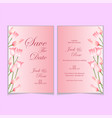 elegant tulips watercolor wedding invitation card vector image