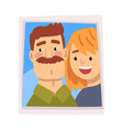family portrait photo happy smiling man and vector image vector image