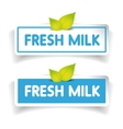 Fresh milk label vector image vector image
