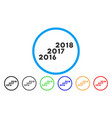 from 2016 to 2018 levels rounded icon vector image vector image