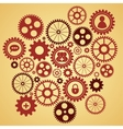gears with icons inside vector image