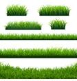 green grass borders big set vector image vector image