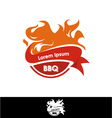 Grill barbecue fire icon vector image vector image