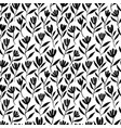 hand drawn brush flower seamless pattern vector image vector image