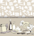 Hand-drawn hygiene elements on seamless pattern vector image