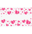 Hearts pattern background for valentines day save