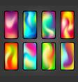 holographic screen gradients vector image vector image