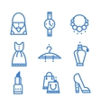 Icons set woman accessories vector image vector image