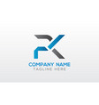 initial pk letter logo with creative modern vector image vector image