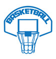 isolated basketball net vector image vector image