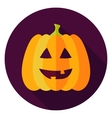 Jack Lantern Circle Icon vector image