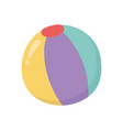 kids toy beach ball rubber object icon design vector image
