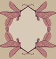 Leaves contours floral border Sketch frames vector image vector image