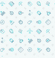 logistics seamless pattern with thin line icons vector image vector image